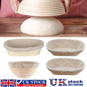 Round Oval Bread Proofing Proving Basket Rattan Banneton Brotform Dough Tool UK