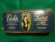 vintage harmonica violin king made in germany