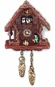 Dollhouse Miniature Reutter Brown Wall Cuckoo Clock 1.399/5