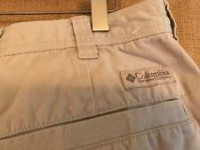 """Columbia men's size 36"""" x 9"""" khaid cargo shorts flat solid zip fly cotton polyes"""