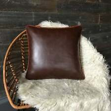 Genuine Lambskin Leather Leather Pillow Cover Square Leather Pillow