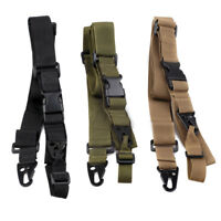 "3 Color Tactical 3 Point Rifle Gun Sling Strap Lanyard Hook Adjustable 25""- 42"""