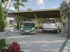Weka Y-Doppelcarport   Flachdach   PVC Dach   592x606x250 cm