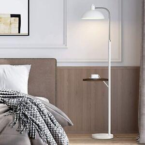 NIB OYEARS FLOOR LAMP W/ TABLE MODEL AMZ-F1015-WH WHITE
