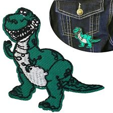 Dinosaur Iron on Patch - Dino Tyrannosaurus Rex embroidery heat transfer patches