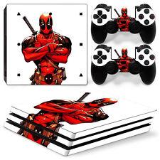 FriendlyTomato PS4 Pro Console and DualShock 4 Controller Skin Set Deadpool