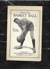 """c1920s Ed Wachter/Buffalo Germans/HOFer """"How to Play Basketball"""" advertising"""