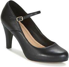Clarks Ladies Mary Jane Shoes DALIA LILY Black Leather UK 6 / 39.5 RRP £59