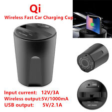 Qi Wireless Phone Mount Charger Car Charging Cup for Iphone X / 8 S8 + USB Cable