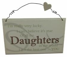 Daughter Rectangle Pictorial Decorative Plaques & Signs