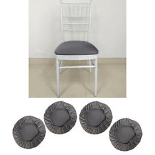 4 Pack Elastic Chair Seat Cover Wedding Dining Room Chair Slipcover Gray