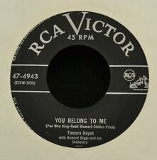 Tamara Hayes RCA 4943 You Belong to Me and That's What a Song Can Do