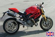 Ducati Monster 696 09 + Sp de ingeniería de fibra de carbono Ronda Moto Gp Xls Escapes