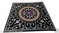 3'x3' Marble Dining Side Table Top Rare Pietradura Mosaic Inlay Home Decor H1623