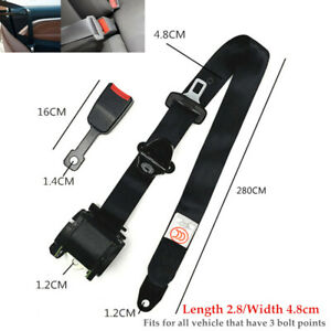 Truck Car SUV Front Driver Seat Safety Belt 3 Point Bolt Extension w/Buckle Kit