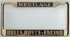 RARE Westlake California Rolls Royce Encino Vintage Dealer License Plate Frame