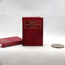 Medical Dictionary 1:6 Scale Book Readable Miniature Medical Book Doctor Office