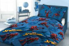 Kids Marvel Spiderman Reversible Single Duvet Set Childrens Pillow Cover Bed Set