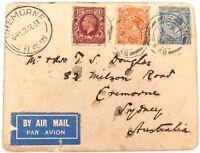 .1934 1ST REGULAR AIR MAIL FLIGHT ENGLAND to AUSTRALIA CARD.