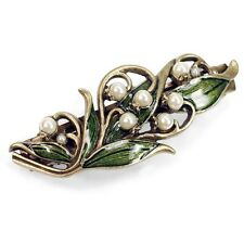 Sweet Romance Lily of the Valley Art Nouveau-Style Barrette ~Made in USA~