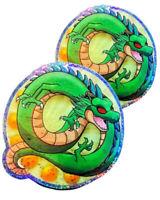 """2X Chibi Shenron Dragon Ball DBZ PS XBOX Phone Decal 4.5"""" Prism Foil Sticker"""