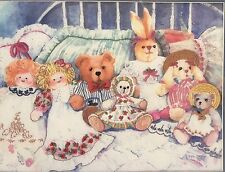 VTG Dimensions BEARS, Bunnies and Dolls Large Crewel Embroidery Kit 1370 New