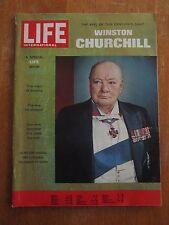 ANCIENNE REVUE LIFE WINSTON CHURCHILL 1965