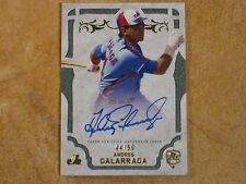 ANDRES GALARRAGA 2015 TOPPS SUPREME GREEN SIGNED AUTOGRAPH ISSUE #44/50 EXPOS