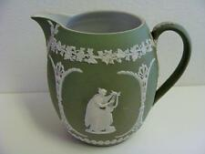WEDGEWOOD ENGLAND GREEN JASPER WARE  PITCHER CIRCA 1830  EXCELLENT CONDITION