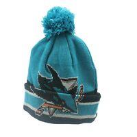 San Jose Sharks NHL CCM Youth Boys (8-20) Cuffed Pom Knit Winter Beanie New Tags
