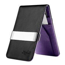 Porte-monnaie et portefeuilles violet en cuir pour femme