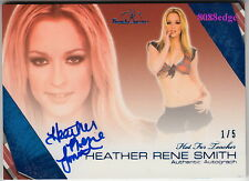 2011 BENCHWARMER AUTO: HEATHER RENE SMITH #1/5 AUTOGRAPH HOT 4 TEACHER PLAYBOY