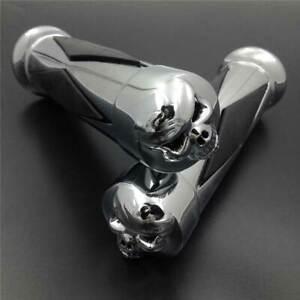"""For Harley Softail Sportster Dyna Custom Chopper Skull Diamond Handlebar Grip 1"""""""