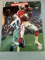 Jerry Rice Hand Signed Autographed 8 X 10 San Francisco 49ers Photo W/ COA HOF