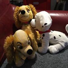DISNEY Lilli e il Vagabondo Grande Peluche Walt Disney Store Bundle 101 Dalmations