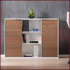 Armadio Mobile Noce 2 Ante con Chiave Libreria Multiuso Mobiletto da Ufficio