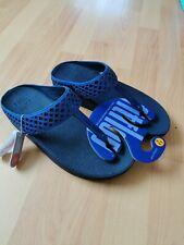 Fit flop safi toe Royal blue sandals flip flops size uk6 new