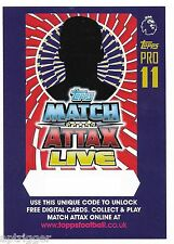 2016 / 2017 EPL Match Attax LIVE - 10 Cards (10 Online Codes)