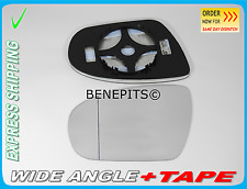 Wing Mirror Glass HYUNDAI I20 2015 -ONWARDS Wide Angle HEATED LEFT Side /JA042