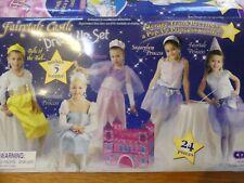 Jolie panoplie DEGUISEMENTS Fées Princesses * Coffre château *3-4-5 ans* TB état