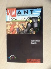 SimAnt Sim Ant SNES Super Nintendo Manual Instruction Booklet Maxis NO GAME