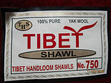RARE SOFT & WARM 100% YAK WOOL TIBETAN BUDDHIST MONK TANTRIC MEDITATION SHAWL