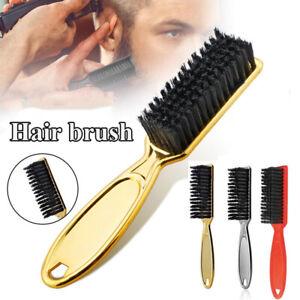 Oil Head Beard Brush Plastic Handle Pratable Scissors Cleaning Hair Remover Comb