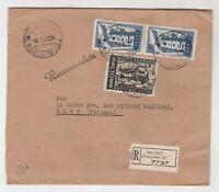 STORIA POSTALE - 1956 REPUBBLICA 3 VALORI SU BUSTA Z/8791