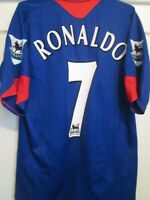 Manchester United 2004-2005 Ronaldo 7 Away Football Shirt Size Small / 44316