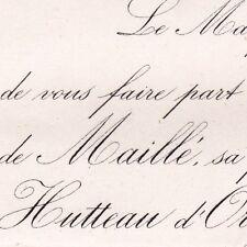 De Maillé La Tour-Landry 1868 Antoine Hutteau D'Origny