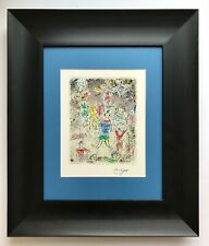 MARC CHAGALL ORIGINAL 1963 BEAUTIFUL SIGNED  PRINT MATTED 11 X 14 + BUY IT NOW!!