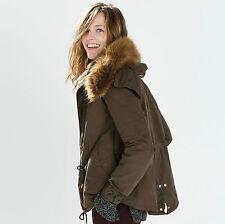Waist Length Parkas Regular Size Coats & Jackets for Women