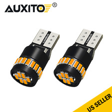 2x CANBUS T10 /194/168/2825 24 LED Amber Yellow Instrument Lights Lamp Bulbs SMD