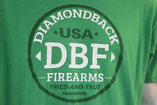 """Diamondback Firearms guns pistols """"Tried & True"""" XXL green shirt"""